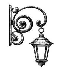 sketch of street light vector image vector image