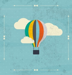 Vintage hot air balloon in the sky vector image vector image