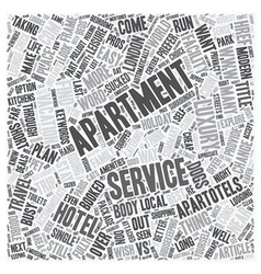 Serviced Apartments vs Hotels Which is Better text vector image vector image