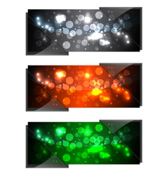 shiny modern banners vector image