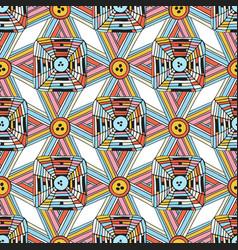unique seamless pattern doodle geometric vector image