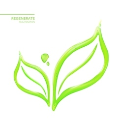 Abstract flower leaf vector image