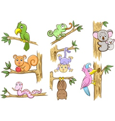 animal in a tree vector image vector image