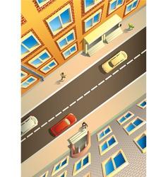 birdseye city vector image