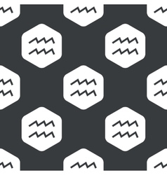 Black hexagon aquarius pattern vector