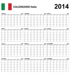 Calendar 2014 Italy Type 22 vector image vector image