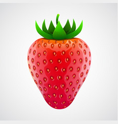 fresh realistic strawberry isolated on white vector image vector image