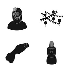 Tattoo on face holiday and other web icon in vector
