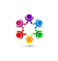 Teamwork people union community icon concept vector image vector image