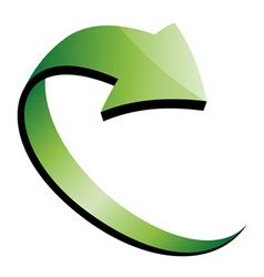 3d green arrow vector