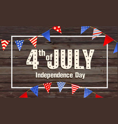 4th july independence day united states amer vector image