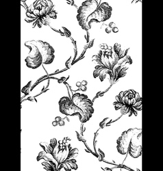 8 Abstract hand-drawn floral seamless pattern vector image