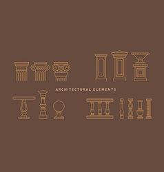 A large series of architectural elements vector