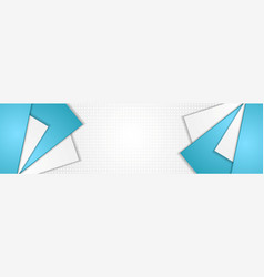 abstract blue and grey tech geometric banner vector image