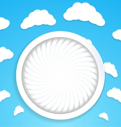 Abstract circular background with clouds vector image