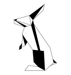 Abstract low poly rabbit icon vector