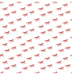 Abstract pattern with red horse vector image