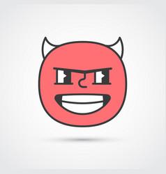 Bad guy emoji face with big eyes eps10 vector