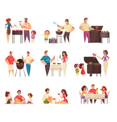 bbq party grill set vector image