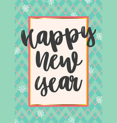 beautiful greeting card happy new year vector image