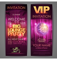 Big lounge party poster vector