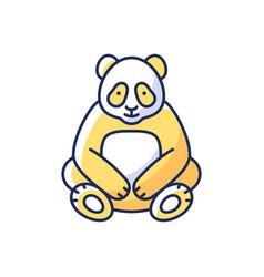 big panda rgb color icon vector image