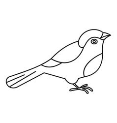 Bird icon outline style vector