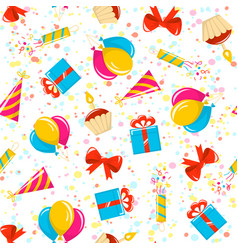 birthday pattern vector image