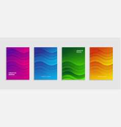 Book cover design abstract book cover template vector