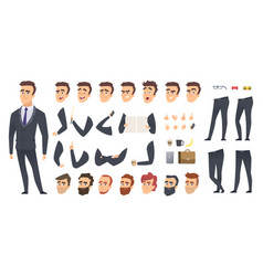 Businessman constructor coworkers manager or vector