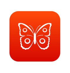 Butterfly peacock eye icon digital red vector