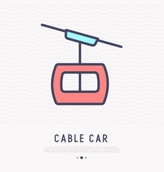 cable car thin line icon vector image