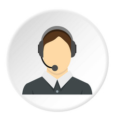 call center operator icon circle vector image