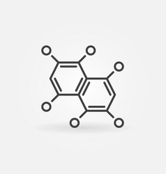 Chemical formula outline icon chemistry vector