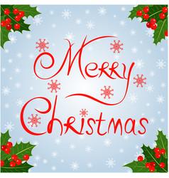 christmas decorative card vector image
