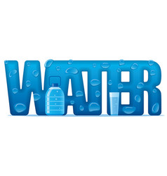 clear natural water banner vector image