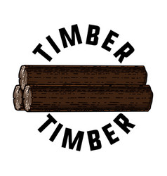 Color vintage timber emblem vector
