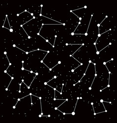 Cosmic background with constellations vector