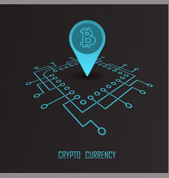 Crypto currency monetary financial vector