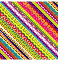 Doodle ethnic and colored seamless background vector image