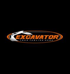 Excavator logo template vector