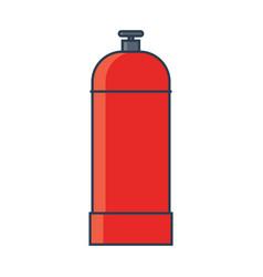 Flammable gas tank icon propane butane methane vector