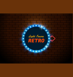 frame light retro circle vector image