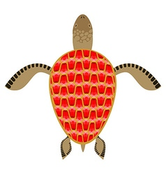 Garnet turtle Shell Aquatic Turtle with precious vector image