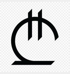 Georgian lari sign vector