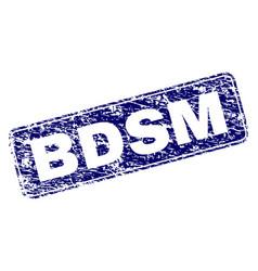 grunge bdsm framed rounded rectangle stamp vector image