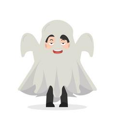 Halloween businessman costume vector