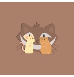 Hamster mous and cats head image vector