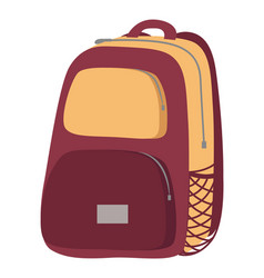 Haversack object colorful close backpack vector