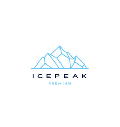 ice peak mount stone mountain adventure icepeak vector image